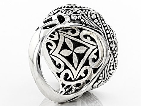 Sterling Silver Concave Flower Ring