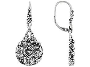 Sterling Silver Concave Flower Earrings