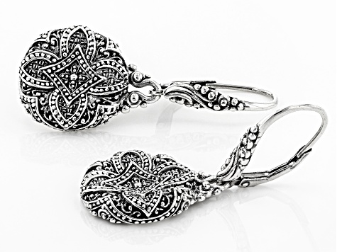 Sterling Silver Concave Flower Earrings