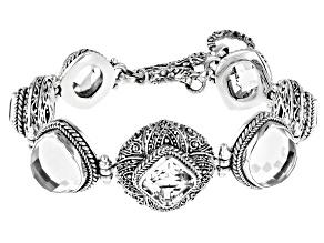 White Quartz Sterling Silver Bracelet 39.51ctw