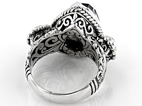 White Quartz Sterling Silver Ring 5.57ctw