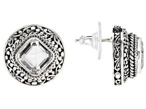 White Quartz Sterling Silver Earrings 4.58ctw
