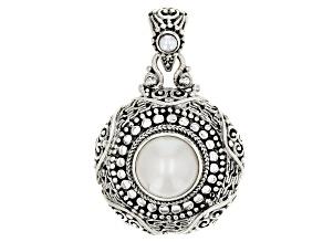 White Cultured Mabe Pearl Silver Pendant