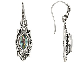 Green Odyssey Calypso™ Mystic Quartz® Silver Earrings 2.74ctw