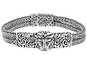 Sterling Silver Lion Head Bracelet