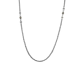 Sterling Silver And 18k Yellow Gold Accent Chain