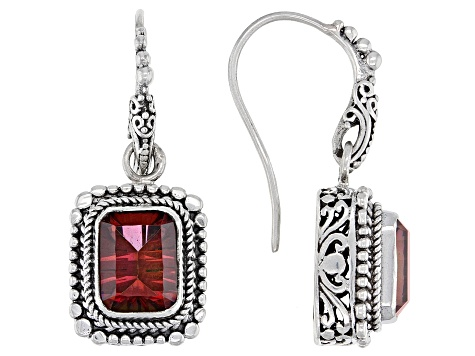 Red Hayward's Muse™ Mystic Quartz® Silver Earrings 3.90ctw