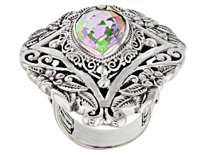Multicolor Zero Saturn™ Mystic Quartz® Silver Ring 4.14ctw