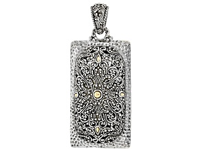 Silver And 18k Gold Accent Pendant