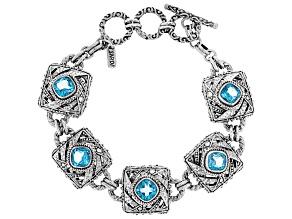 Blue Fiji Play™  Quartz Silver Bracelet 6.15ctw
