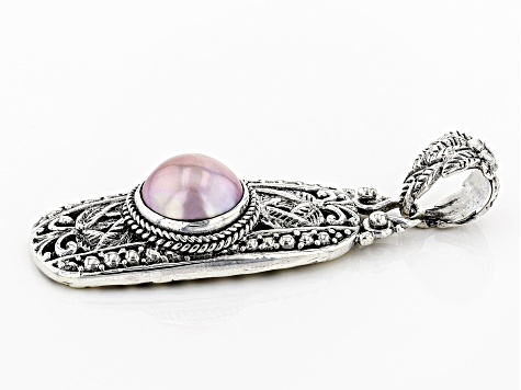 Pink Mabe Pearl Silver Pendant