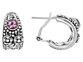 Pink Sonic Pink™ Mystic Quartz® Silver Earrings 0.76ctw