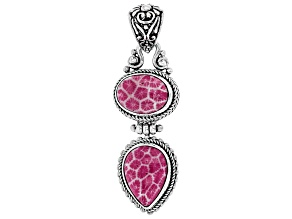 Pink Indonesian Coral Silver Pendant