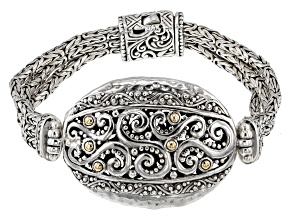 Sterling Silver And 18k Gold Accent Bracelet