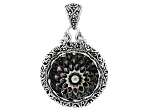 Black Mother Of Pearl Sterling Silver Pendant