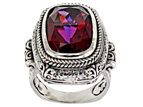 Pink Bee Pink™ Mystic Quartz® Sterling Silver Solitaire Ring 8.25ctw