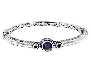 Blue Tanzanite Silver Bracelet 0.34ctw
