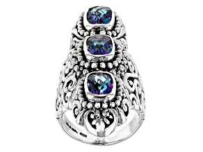 Blue  Sheer Luck ™ Mystic Topaz® Sterling Silver Ring 4.59ctw
