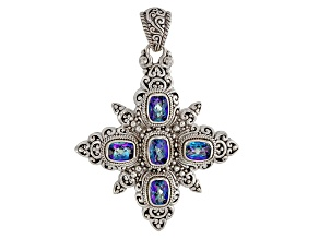 Blue  Sheer Luck ™ Mystic Topaz® Sterling Silver Pendant 7.65ctw