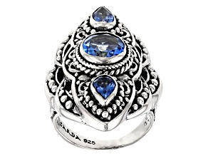 Royal Bali Blue ™ Topaz Silver Ring 2.24ctw