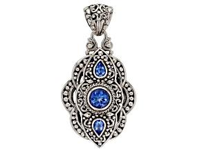 Royal Bali Blue ™ Topaz Silver Pendant 2.24ctw