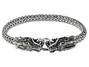 Sterling Silver Dragon Bangle Bracelet