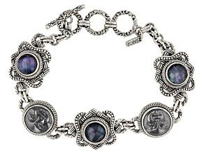 Silver Hematine Silver Bracelet