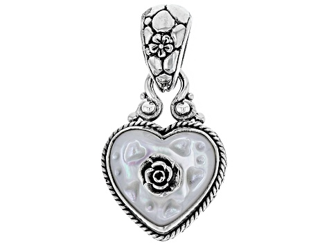 White Mother Of Pearl Sterling Silver Pendant