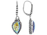 Multicolor Zero Saturn™ Mystic Quartz® Silver Earrings
