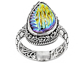Multicolor Zero Saturn™ Mystic Quartz® Silver Ring