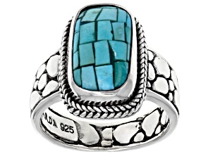 Turquoise Mosaic Silver Ring