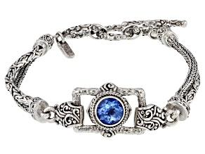 Royal Bali Blue™ Mystic Topaz® Silver Bracelet 2.04ctw