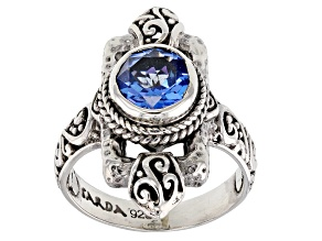 Royal Bali Blue™ Mystic Topaz® Silver Ring 2.04ctw