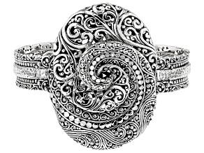 "Sterling Silver ""Forever Promise"" Cuff Bracelet"