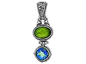 Green Peridot Triplet Silver Pendant