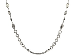 Black Spinel Sterling Silver Necklace 2.56ctw