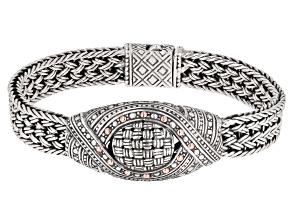 """Sterling Silver And 18K Gold Accent """"Never Overlooked"""" Bracelet"""