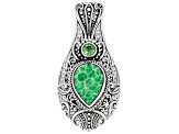 Kelly Green Indonesian Coral Silver Pendant 0.49ctw
