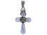 Blue Lace Agate Sterling Silver Cross Pendant