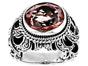 Always True Rose™ Mystic Quartz® Silver Ring 3.83ctw