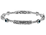 Blue Bali Breeze™ Topaz Silver Bangle Bracelet 0.80ctw