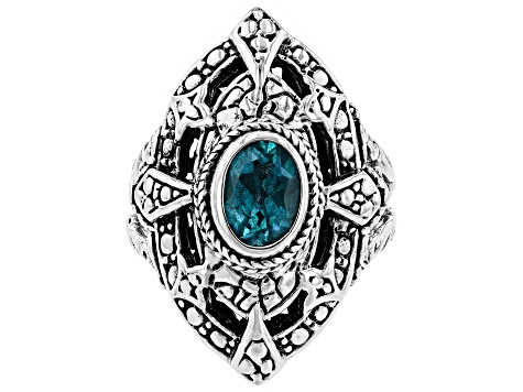 Blue Bali Breeze™ Topaz Silver Ring 0.95ctw