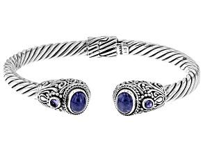 Blue Tanzanite Silver Bracelet 0.12ctw