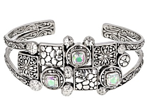 Zero Saturn ™ Mystic Quartz ® Silver Cuff Bracelet 3.33ctw