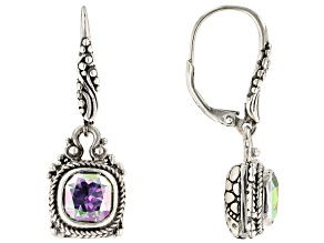 Zero Saturn ™ Mystic Quartz ® Silver Earrings 4.68ctw