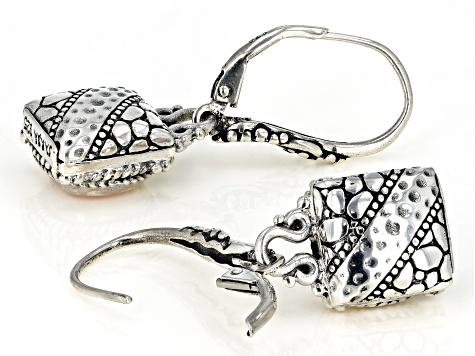 ZEEO Long earrings steel quartz rutile seashell ceramic jewel