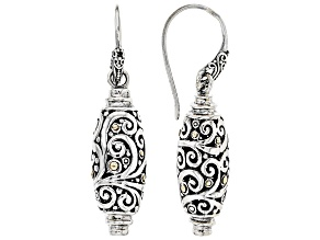Sterling Silver & 18k Gold Accent Dangle Earrings