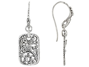"Sterling Silver ""According To A Purpose"" Dangle Earrings"