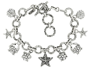 Sterling Silver Nautical Charm Bracelet