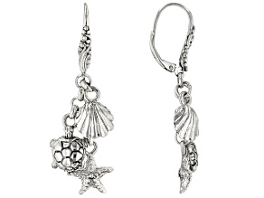 Sterling Silver Nautical Charm Earrings